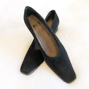 Vintage Stuart Weitzman Suede Square Toe Loafers